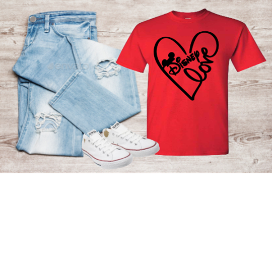 DISNEY LOVE WITH HEART T-SHIRT