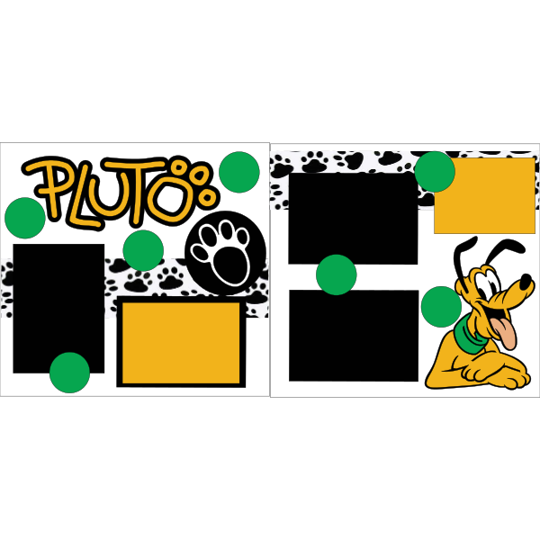 PLUTO  -DISNEY -basic page kit