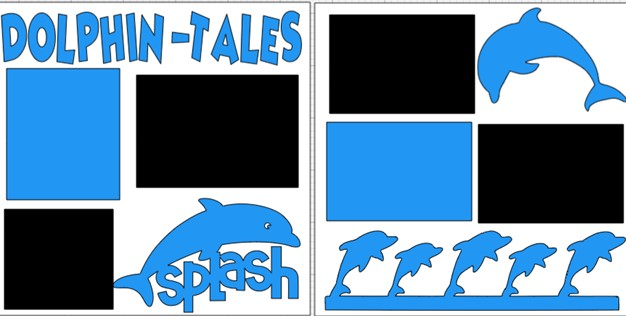 DOLPHIN TALES  -  page kit