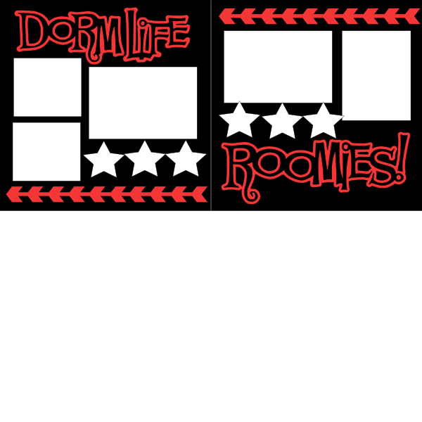 DORM LIFE-ROOMIES-COLLEGE   -basic page kit