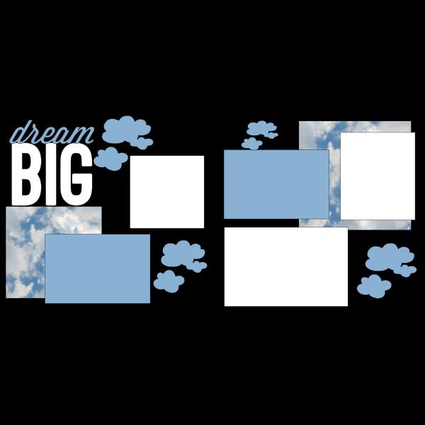 DREAM BIG -basic page kit