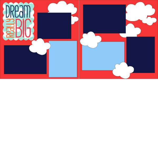 DREAM REALLY BIG  -basic page kit