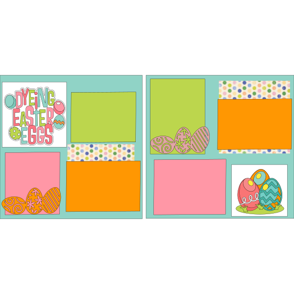 DYING EASTER EGGS === -basic page kit