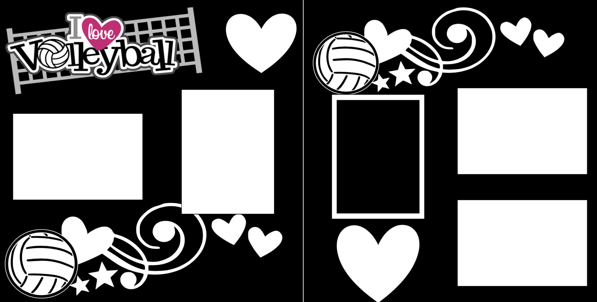 I love Volleyball  -  page kit