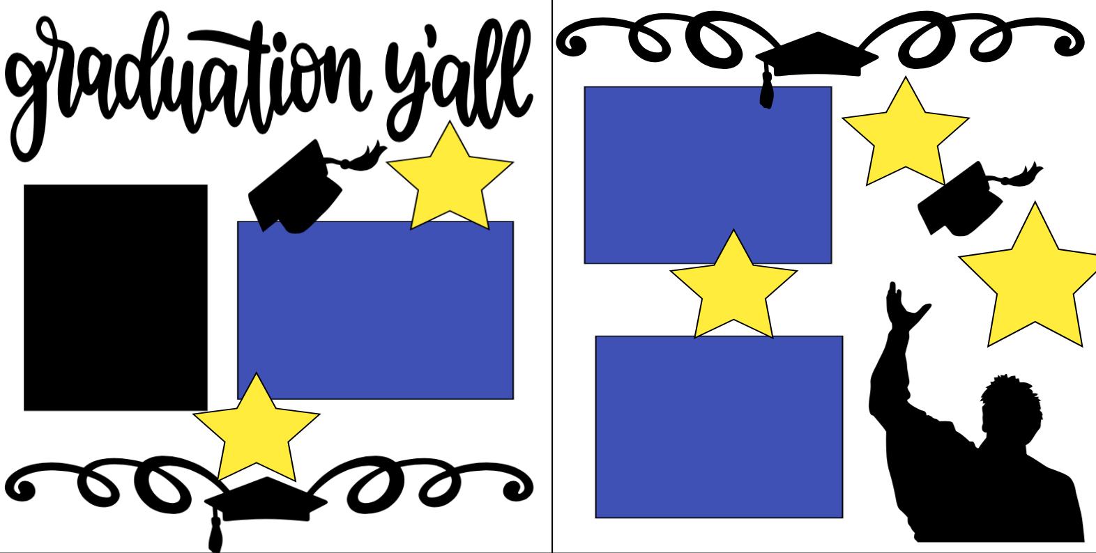 Graduation Y'all Boy-  page kit