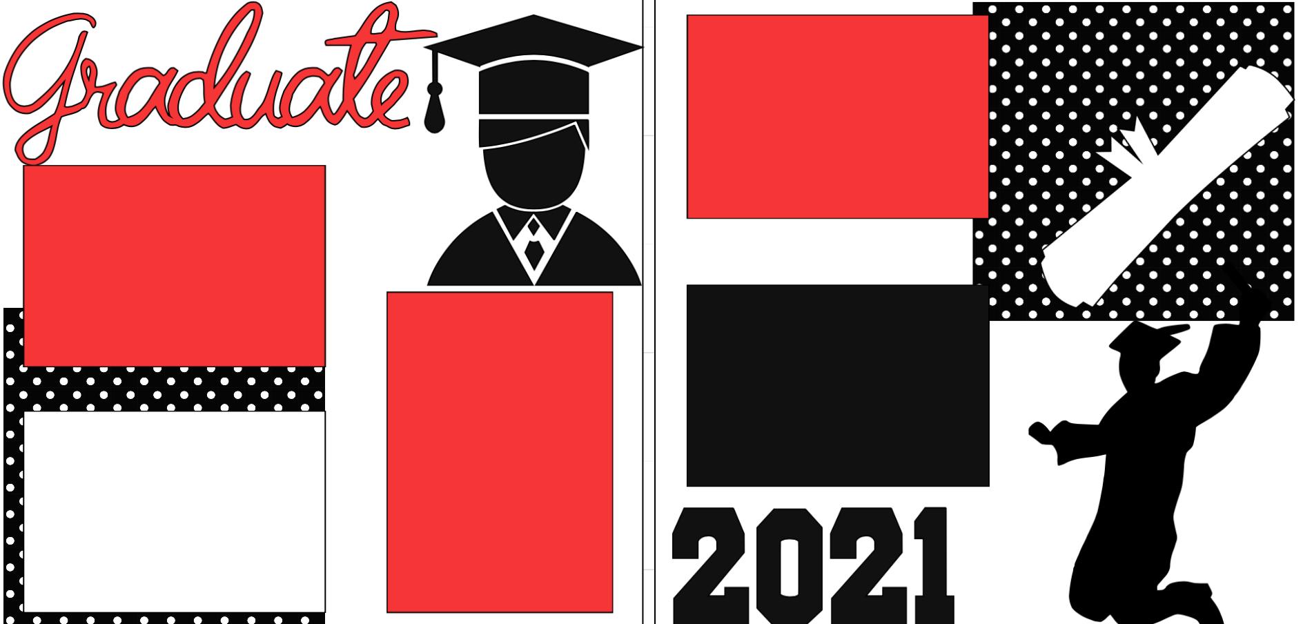 GRADUATE 2021 BOY  -basic page kit