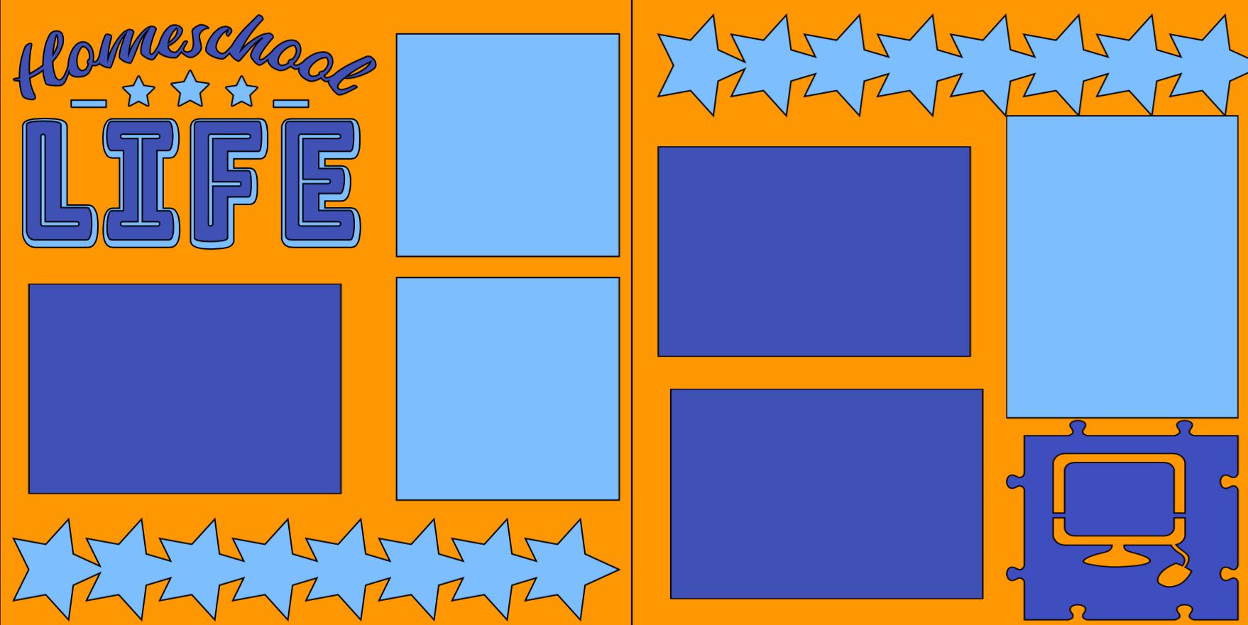 Homeschool Life-  page kit
