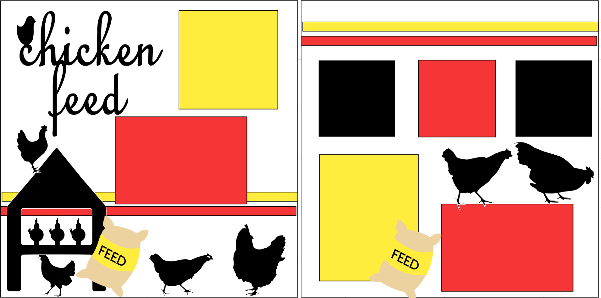Feeding the chickens-  page kit