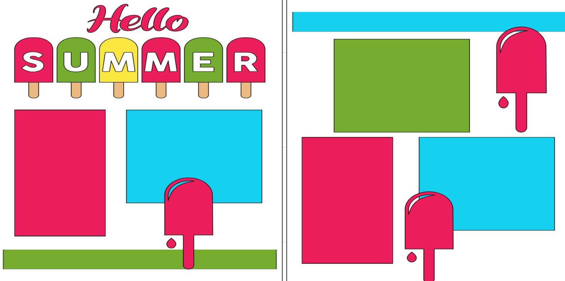 Hello Summer -  page kit