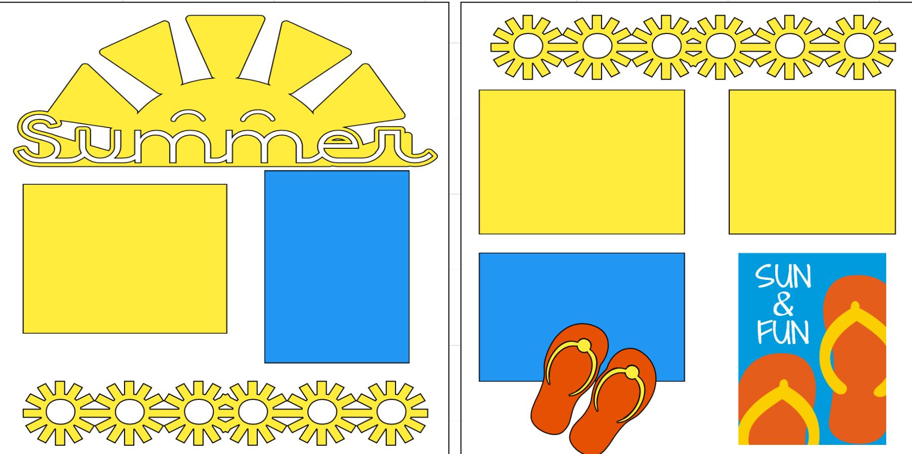 Summer Sun-  page kit