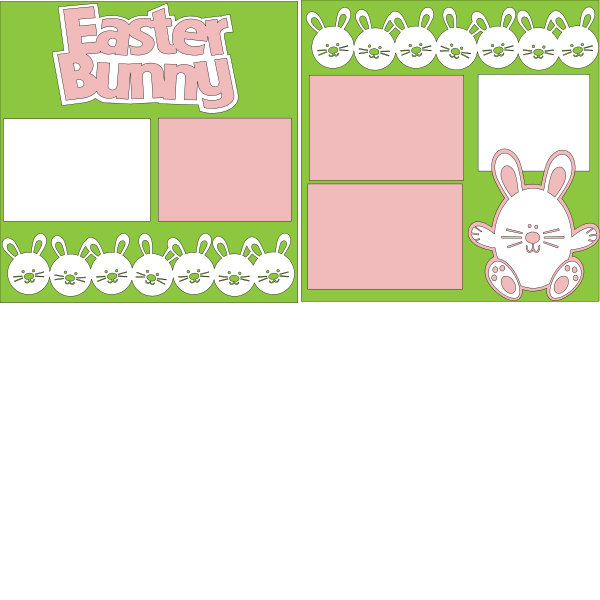 "PICTURES WITH THE ""EASTER BUNNY""  ... Page Kit"