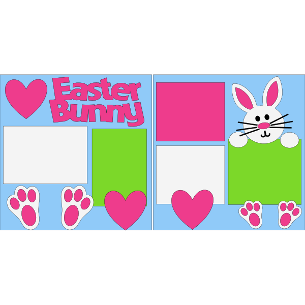 THE EASTER BUNNY  -basic page kit