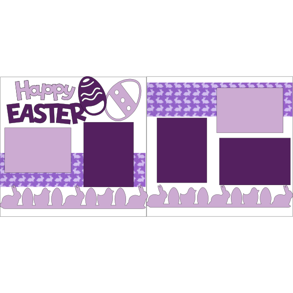 HAPPY EASTER PURPLES  -basic page kit