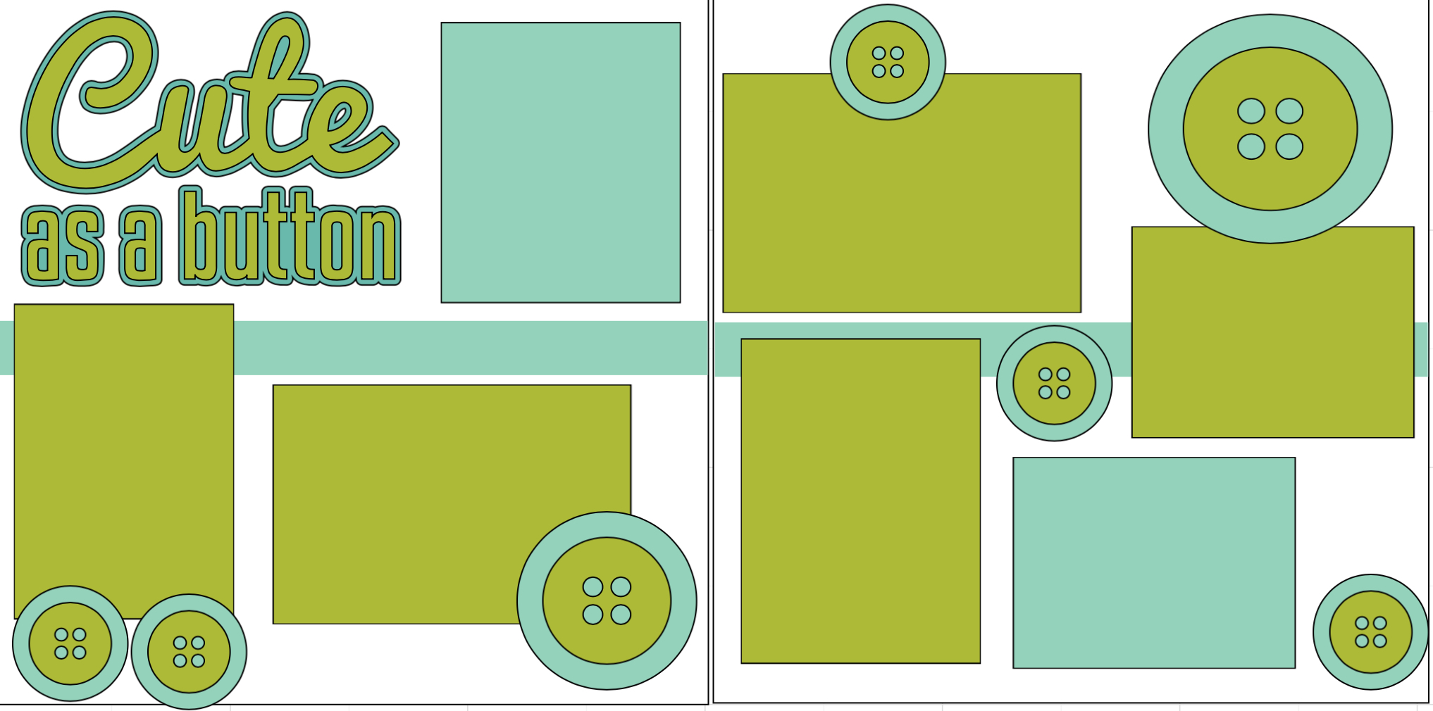 Cute as a button -  page kit