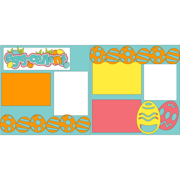 EGGCELENT EASTER  -basic page kit