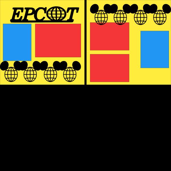 Disney EPCOT 3-  page kit