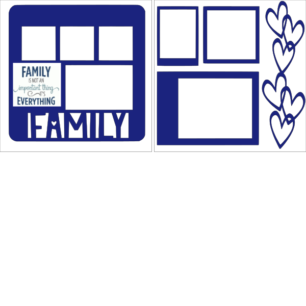 FAMILY IS EVERYTHING -basic page kit