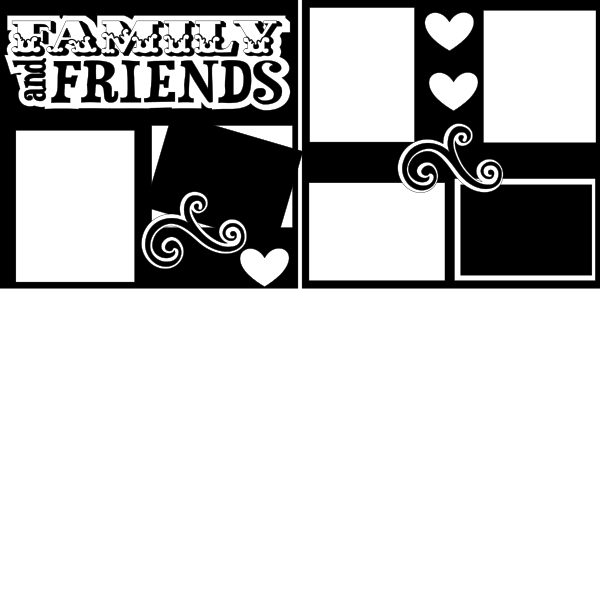 FAMILY AND FRIENDS  -basic page kit