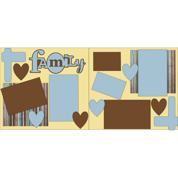 FAMILY (BLUE AND BROWN) basic page kit