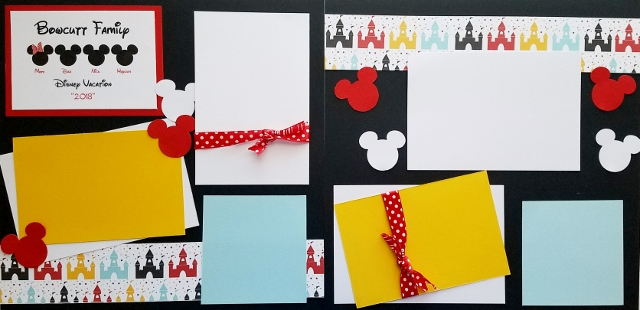 PERSONALIZED DISNEY VACATION (MICKEY HEADS)  page kit