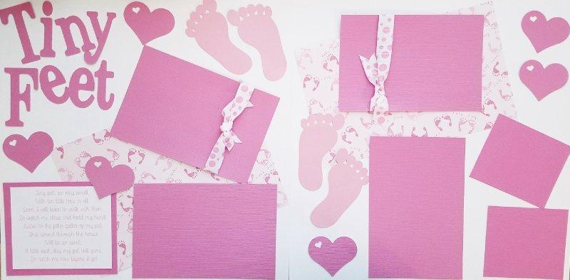 Tiny feet GIRL Page kit