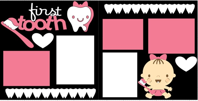 FIRST TOOTH GIRL -  page kit