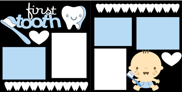 FIRST TOOTH BOY  -  page kit