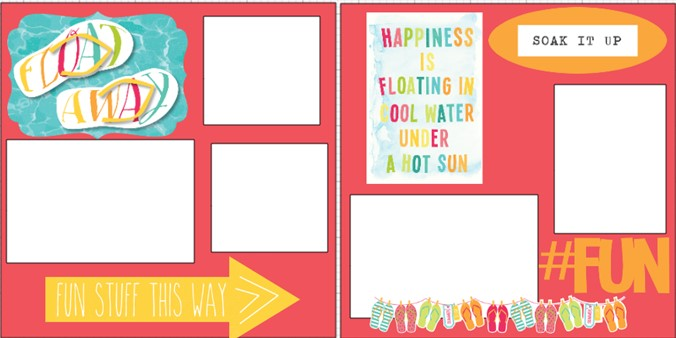 FLOAT AWAY - SUMMER  -  page kit