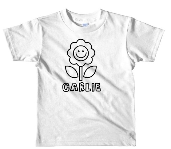 FLOWER  COLORING SHIRT