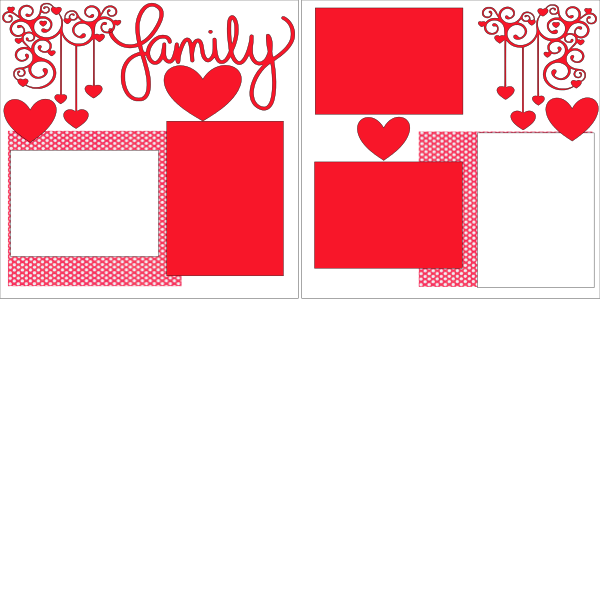 FAMILY (RED HEARTS)   --   page kit
