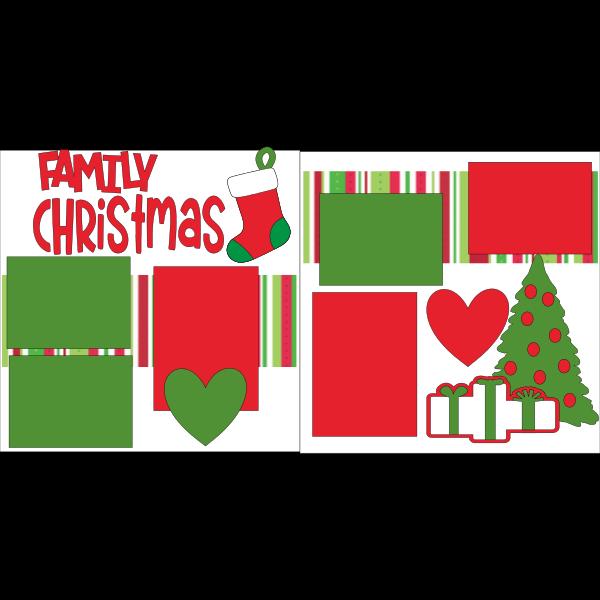 FAMILY CHRISTMAS  -basic page kit