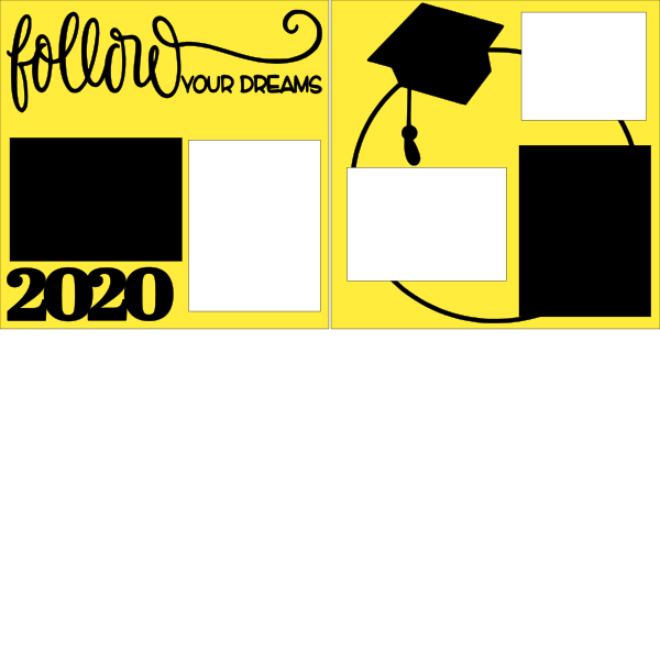 Follow your Dreams GRADUATION -  page kit