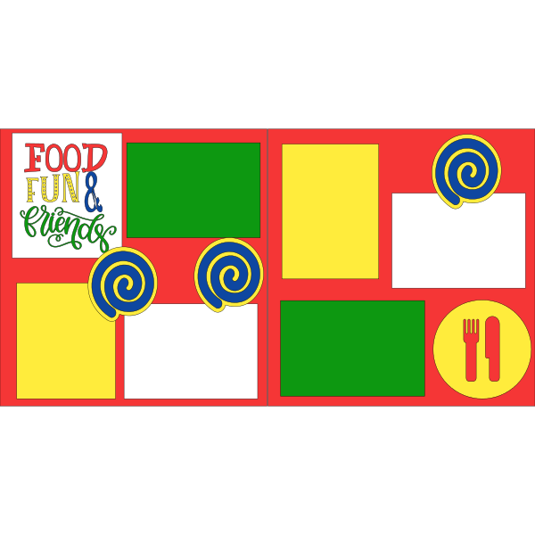 Food fun and Friends - page kit