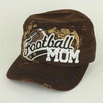 "Sports ""Football Mom"" Cap with Rhinestones"