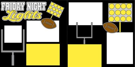 FOOTBALL- FRIDAY NIGHT LIGHTS -  page kit