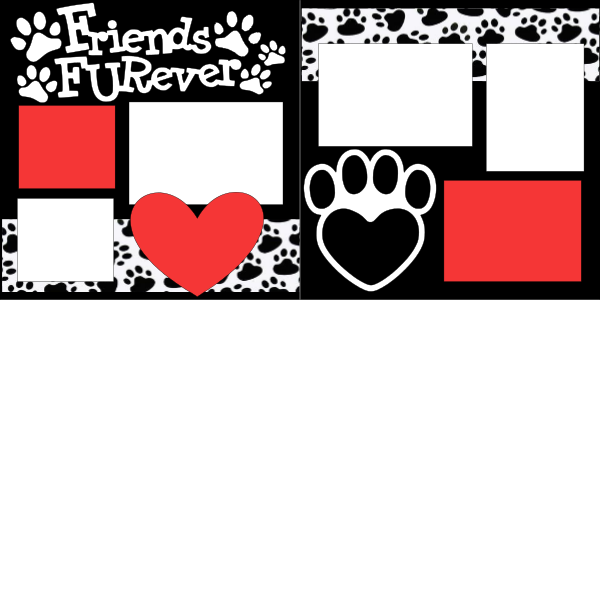 FRIENDS FUREVER   -basic page kit