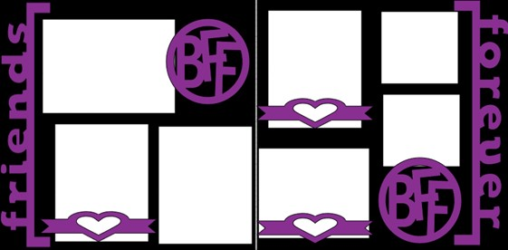 BFF FRIEND FOREVER  -  page kit