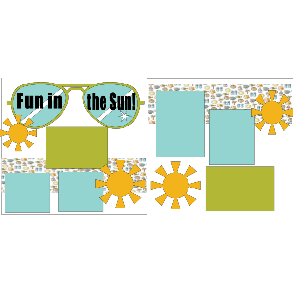 FUN IN THE SUN BEACH/SUMMER  -basic page kit