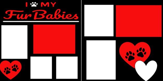 I LOVE MY FUR BABIES  -  page kit