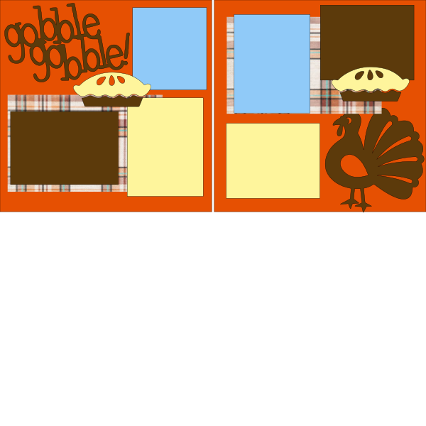 GOBBLE GOBBLE THANKSGIVING    --   page kit