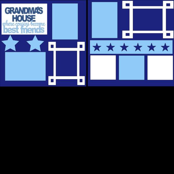 GRANDMAS HOUSE/COUSINS  -basic page kit