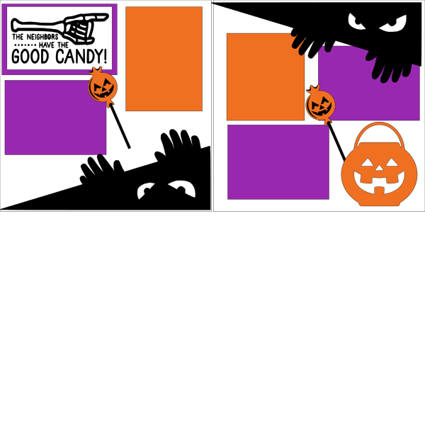 THE NEIGHBOR HAS THE GOOD CANDY -HALLOWEEN    -basic page kit