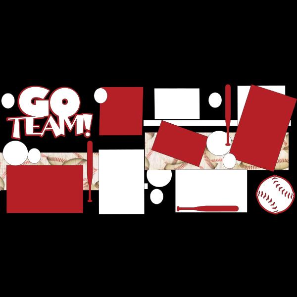 GO TEAM BASEBALL  -basic page kit