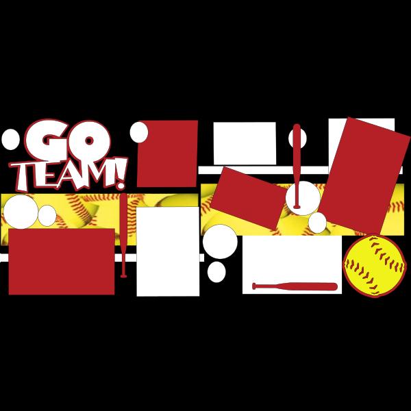 GO TEAM SOFTBALL - basic page kit