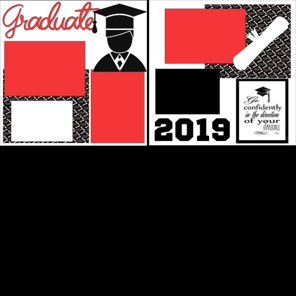 GRADUATE 2019 BOY  -basic page kit
