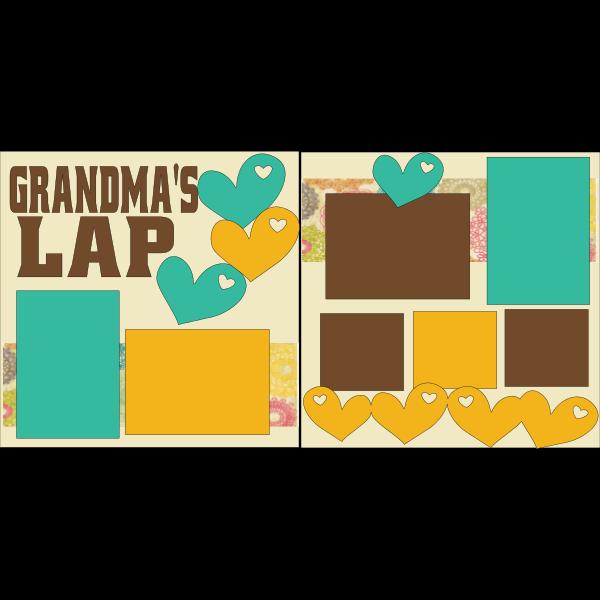 GRANDMA'S LAP  -basic page kit