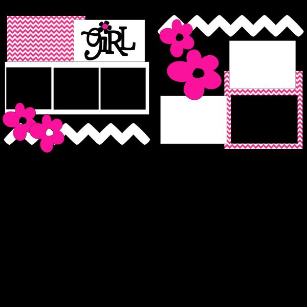 GIRL (HOT PINK)  -basic page kit