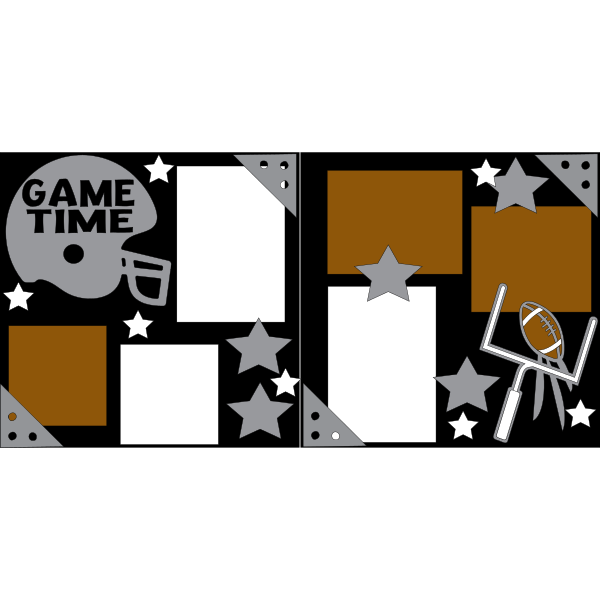 GAME TIME FOOTBALL ** -basic page kit