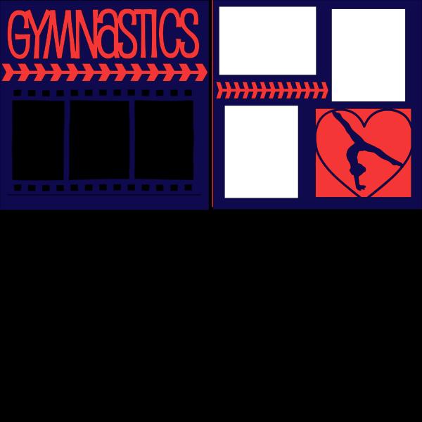 GYMNASTICS -(HEART)  page kit