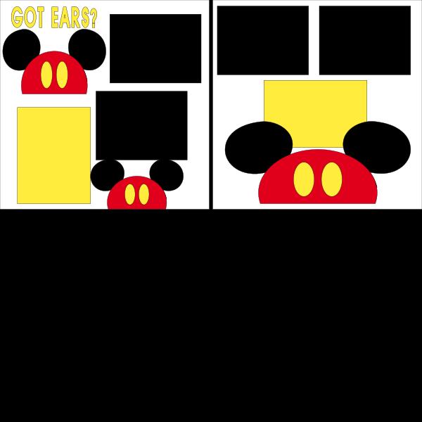Got Ears Disney --  page kit